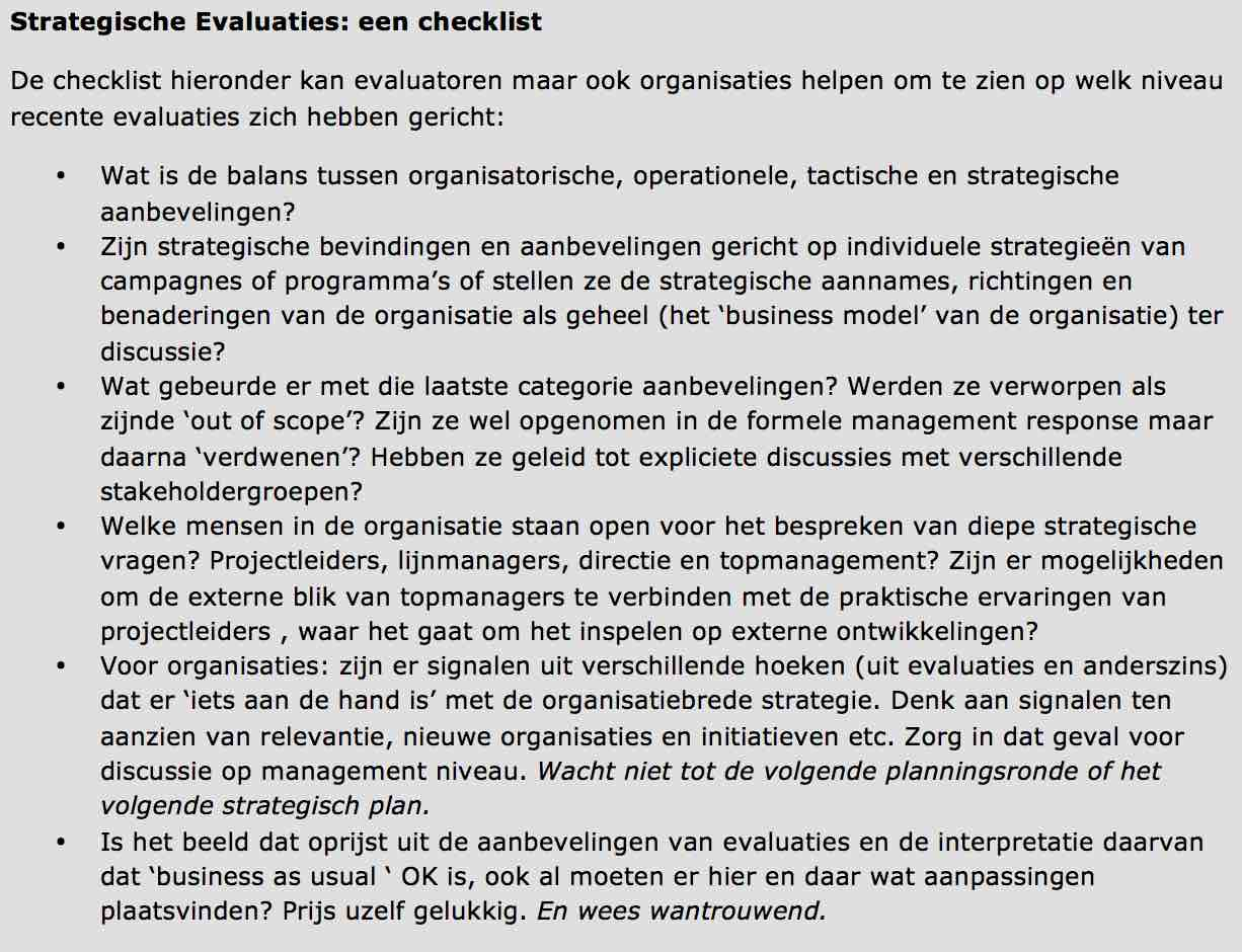 Evaluatiechecklist NL versie